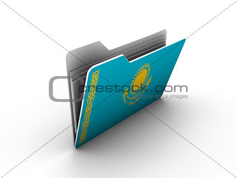 folder icon with flag of kazakhstan