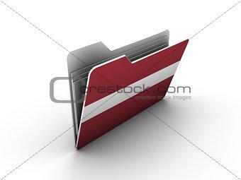 folder icon with flag of latvia