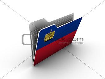 folder icon with flag of liechtenstein