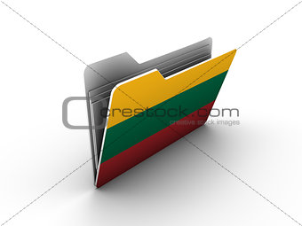 folder icon with flag of lithuania