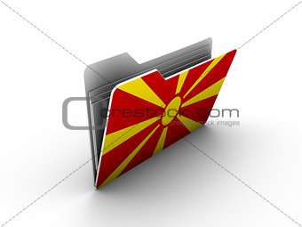 folder icon with flag of macedonia