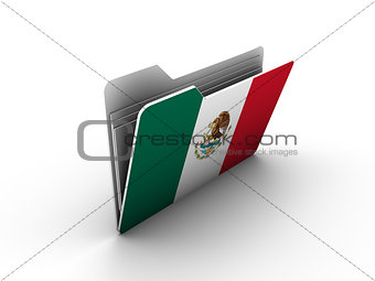 folder icon with flag of mexico
