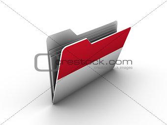 folder icon with flag of monaco