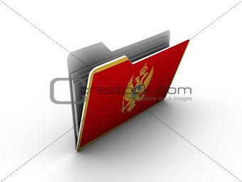 folder icon with flag of montenegro