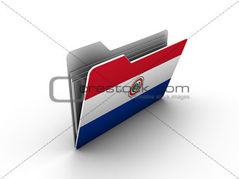 folder icon with flag of paraguay