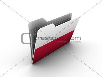 folder icon with flag of poland