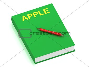 APPLE inscription on cover book