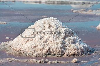 Salt pile in salt farm, India
