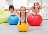 Gymnastic at home - with large balls