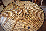 Wine Corks in circle