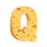 Letter made of Cheese