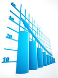 blue columns of diagram with arrow rising upwards