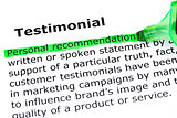 Testimonial Definition