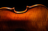 Violin rear view cropped