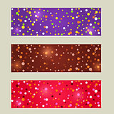 Banner Set with Colorful Dot Splash