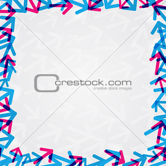Abstract Shiny Arrow Frame Card