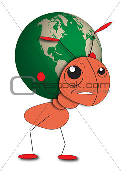 Ant gives an ecological message to save the planet