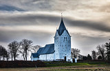 Medieval church in Vester Vedsted, Denmark