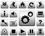 Vector metal icon set.