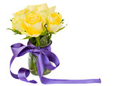 yellow roses posy