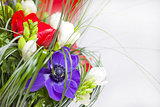 Flowers in a beautiful bouquet of anemones