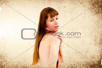 Vintage style nude woman