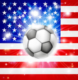 USA soccer flag