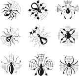 Dingbats with spiders