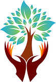 hand tree logo