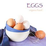 Fresh eggs.