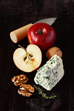 Apple and blue cheese.