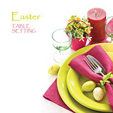 Easter table setting.