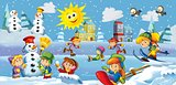 The winter fun kids