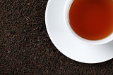 Black Tea with copy space