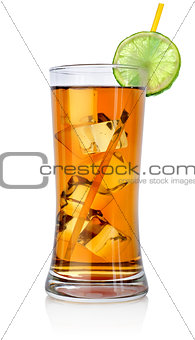 Amber cocktail in a big glass