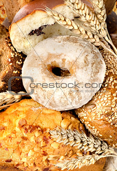Assortment of fresh breads