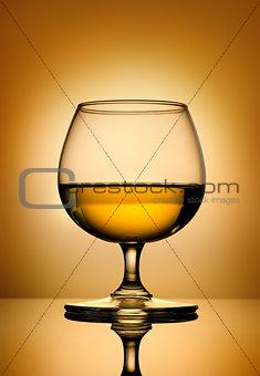 Brandy on a gold background