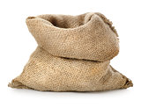 Empty burlap sack