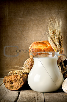 Milk and bread