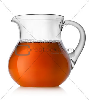 Pear juice in a jug