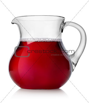 Pomegranate juice in a jug