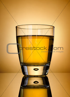 Whisky on a gold background