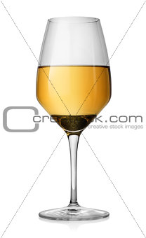 Winglass and white wine