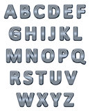Metallic alphabet.