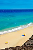 white sand beach in Fuerteventura, Canary Islands, Spain