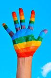 rainbow hand