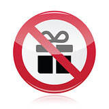 No presents red warning signs - vector