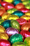 Easter eggs made of chocolate