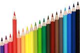 Pencils forming a chart