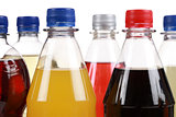 Different bottles with soda